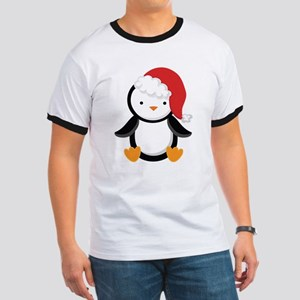 Santa Penguin Christmas T-Shirt